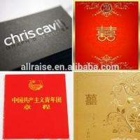 China Wedding Card Gold Hot Stamp Foils MSDS 640MM × 120M 2 Years Storage Time wholesale