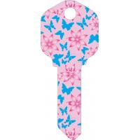 Buy cheap Butterfly Designs Printed House Key Blanks Full Color Painted KW1 and SC1 Key from wholesalers