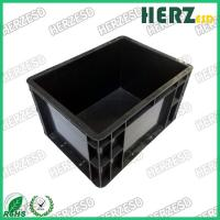 China Circulation ESD Storage Box Conductive Injection Interior Size 565 X 365 X 220mm on sale