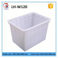 China 120L White rectangular HDPE plastic container for washing powder without lid wholesale