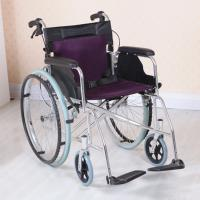 China Adjustable Lightweight Aluminum Wheelchair , Multi Color Easy to Carry wholesale