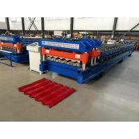 China Servo Motor Glazed Tile Roll Forming Machine 4 Meter / Min With 18 Rows wholesale