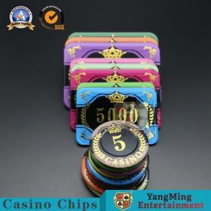 China Customized Casino Poker Chips / Anti - Counterfeiting Round Gambling Chips wholesale
