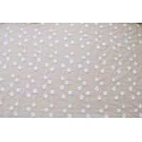 China 51'' Width White Embroidered Tulle Nylon Lace Fabric , Floral Stretch Lace Fabric wholesale