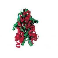 China Red , Green , White Combinations christmas Curling Ribbon Bow , PP Metallic wholesale