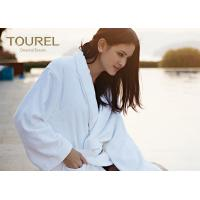 China Customised Terry Waffle Velour Hotel Quality Bathrobes White Blue Pink Color wholesale