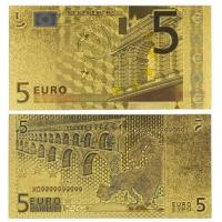 China Europe 5 Euro Banknote Gold Paper Money Collection wholesale