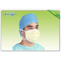 Quality White and Blue PP Non Woven Medical Fabric Laminated PE Film for Hospital Products for sale
