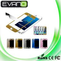China Ultra HD Colorful Tempered Glass Screen Protector+Back sticker skin cover for iphone 5 5S wholesale