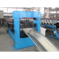 0.8-1.2mm Gutter Roll Forming Machine , Metal Roll Forming Equipment PLC Control