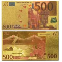 Quality Paper Money Colorful 200 Euro Gold Banknotes Collection for sale