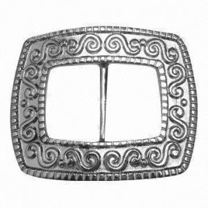 China Metal Buckle/Slider for Belt or Garment, Comes with Elegant Design, with 19mm Inside Bar wholesale