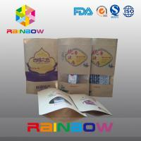 Quality Clear Window Kraft Paper Bag / Snack Bag Packaging / Resealable Bag with Zipper for sale