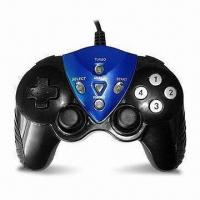 China PC USB Gamepad/Joypad/Controller with Comfortable Soft Rubber Grips and 2 Analog Sticks wholesale