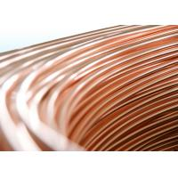 China Steel Copper Coated Bundy Tubes / Plating Copper Pipe 4mm X 0.65 mm wholesale