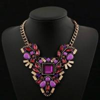 China 2015 New style red acrylic pendant necklace for women wholesale