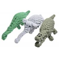 China Animal Design Cotton Rope Ball Dog Toy , Soft Corduroy Puppy Rope Toy wholesale