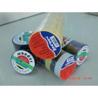 China Glossy Rubber Based Adhesive PVC Electrical Tape Black / Red / Green Shiny Film wholesale