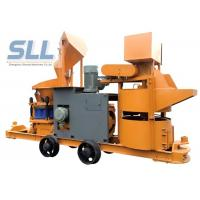 China Customized Color Portable Shotcrete Machine With Cement Mixer / Hose Pump wholesale