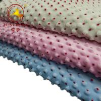 China customized made printed minky dot fabric with competitive price on sale