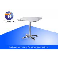 China Rectangle Stainless Steel Leisure Sturdy Outdoor Aluminum Table For Dining wholesale