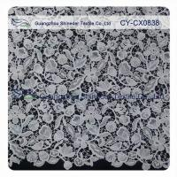 China Floral Embroideried 100 Polyester Lace Fabric / Home Decor Fabric wholesale