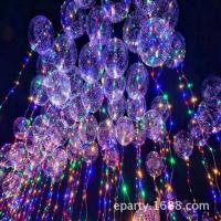 Buy cheap Hot sell Colorful Led string light transparent bobo balloon for festival party celebration decoration from wholesalers