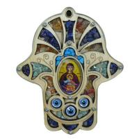Buy cheap Jerusalem Holy Land Wooden Chamsa with Gemstones from wholesalers
