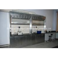 China PVC Track Stainless Steel Fume Hood Phenolic Resin Worktops With Remote Control Valve wholesale