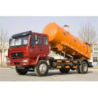 China Sinotruk 4x2 160 Hp Vacuum Sewage Suction Truck 10 Cbm One Bed For Cleaning wholesale