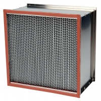 China High Temperature 500Pa HEPA Air Filter With Glass Fiber Paper wholesale