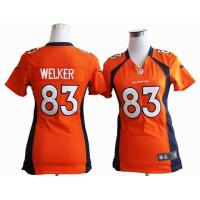 China women nike nfl Denver Broncos 83 Welker orange stitched jersey wholesale