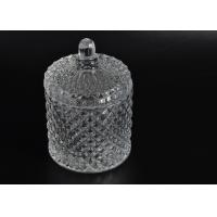 China Elegant White Glass Dome Candle Holder Personalised Glass Jars With Lid wholesale