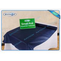 China Dark Blue Color 60gram Oil / Penetration Resistant PP / PE Coated Tablecloth For Household wholesale
