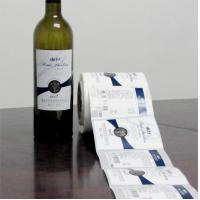 China Customized Design Waterproof Red Wine Shrink Sleeve Labels Self Adhesive Bottle Label wholesale