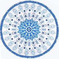 China round beach towel stocks without MOQ low price wholesale round beach towels on sale