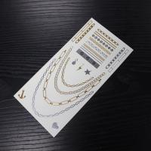 China metallic body temporary tattoo sticker wholesale