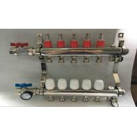 China Material Stainless Steel 304 Floor Heating Manifold With Two Ball Valve wholesale