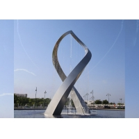 China BLVE Stainless Steel Sculpture Fountain Large Abstract Art Garden Metal Statue Outdoor Decorative wholesale