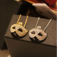 China Luxury fashion style gold silver plated mask pendant necklace for women and men wholesale