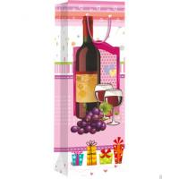 China Hiqh quality custom paper material for shopping wine bag wholesale