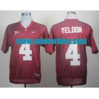 China NCAA Alabama Crimson Tide T.J Yeldon 4 Crimson College Football Jersey wholesale