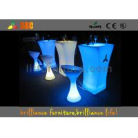 Quality Polyethylene LED Lighting Furniture / Cocktail table for party & exhibition for sale