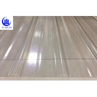Transparent Corrugated Clear Polycarbonate Roofing Sheets Wave Or Trapezoidal Type