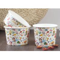 China 200ml 100% Biodegradable Branded Ice Cream Cups Single Wall Eco - Friendly wholesale