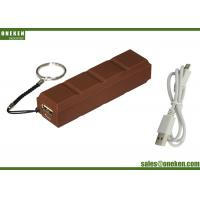 China Universal Chocolate Mobile Portable Charger Power Bank 2600mAh , High Speed Cell Phone Charger wholesale