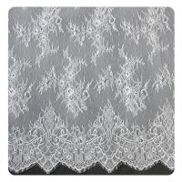 Buy cheap Eco friendly Dyeing Fabric , Flora Bridal Chantilly Nylon Lace With Nylon Material from wholesalers