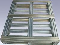Buy cheap Industrial Returnable Storage Galvanized Steel Pallets Single Face Or Double Face from wholesalers
