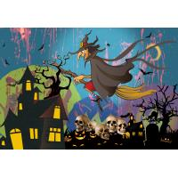 China Custom 30*40cm Happy Halloween Poster Lenticular Flip With 0.6mm PET For Party Decoration wholesale