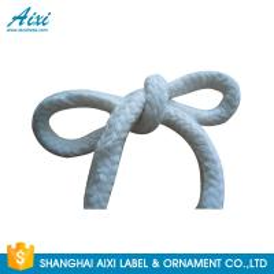 China 100%  Printed Flat Cotton Elastic Cord Shoelace Cotton Webbing Straps wholesale
